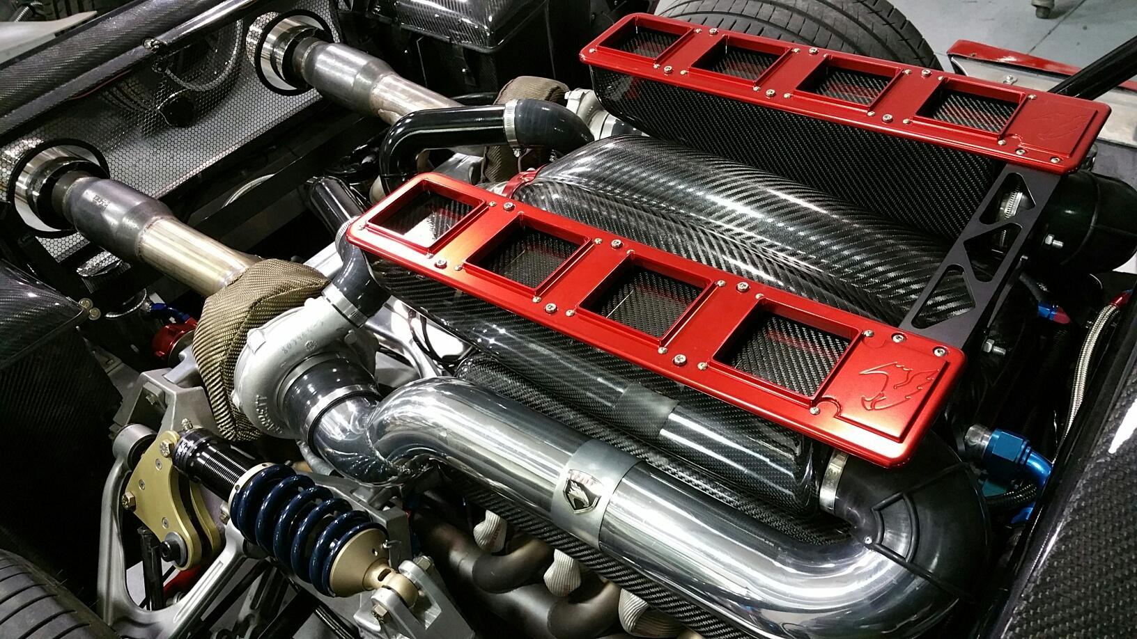 The Falcon F7 engine bay.